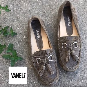 VANELi Caramel Brown Loafers with Tassels